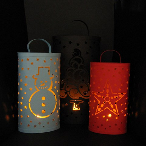 Christmas t light lanterns